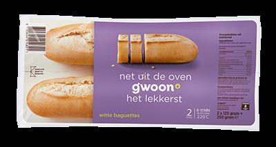 g'woon baguettes wit 2 stuks - apart verpakt