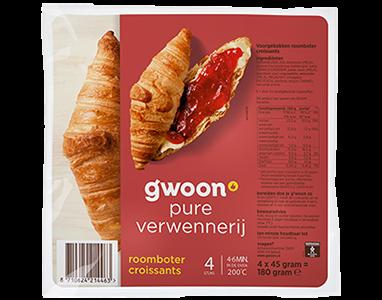 g'woon croissants 4 stuks
