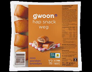 g'woon mini worstenbroodjes 12 stuks