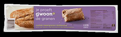 g'woon rustiek meergranen stokbrood - 250 gram