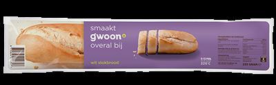 g'woon stokbrood wit 220 gram