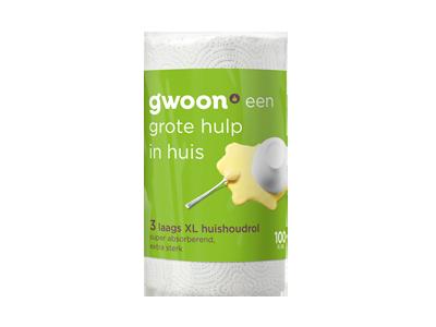 g'woon keukenpapier maxirol XL 2 laags 1 stuk