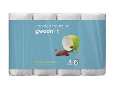 g'woon keukenpapier 2 laags 4 rollen