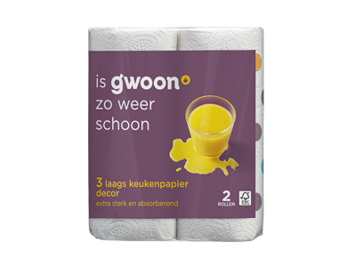 g'woon keukenpapier decor 3 laags 2 rollen