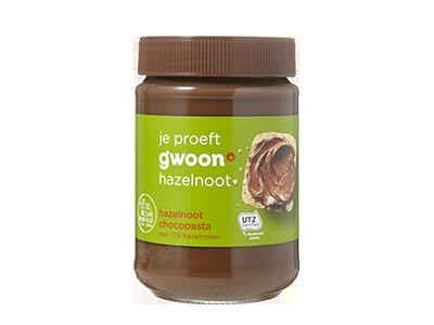 g'woon hazelnoot chocopasta 400 gram