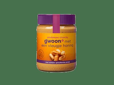 g'woon pindakaas crunchy 350 gram