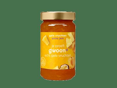 g'woon gele vruchten extra jam 400 gram