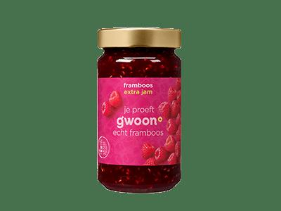 g'woon framboos extra jam 400 gram