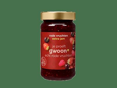 g'woon rode vruchten extra jam 400 gram