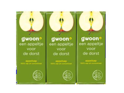 g'woon appelsap pakjes 6 x 200ml
