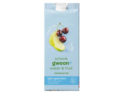 g'woon water en fruit appel - kers light 1,5 liter