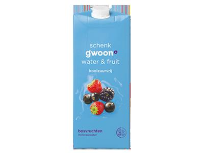 g'woon water en fruit bosvruchten 1,5 liter