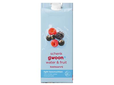g'woon water en fruit bosvruchten light 1,5 liter