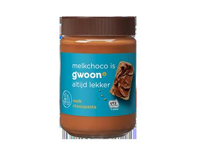 g'woon melk chocopasta 400 gram
