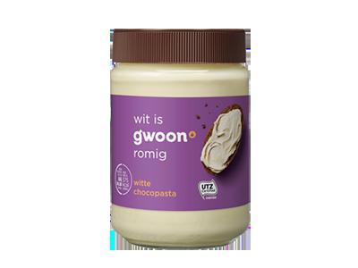g'woon witte chocopasta 400 gram