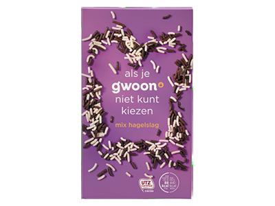 g'woon mix hagelslag 400 gram - UTZ gecertificeerd