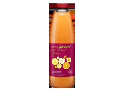 g'woon multivitamine drank exotisch fruit 1,5 liter