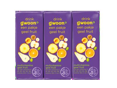 g'woon pakjes multivitamine drank geel fruit 6 x 200ml