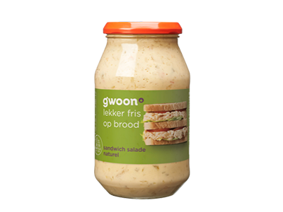 g'woon sandwich salade naturel 515 gram
