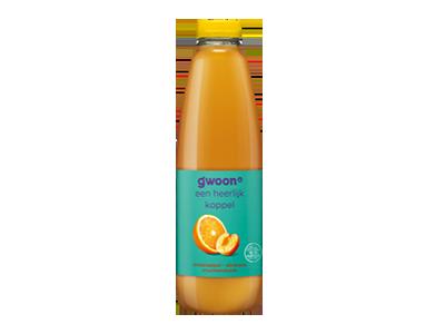 g'woon sinaasappel - abrikoos drank 1 liter