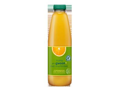 g'woon sinaasappelsap met vruchtvlees 1 liter