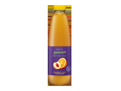 g'woon sinaasappel - perzik drank 1 liter