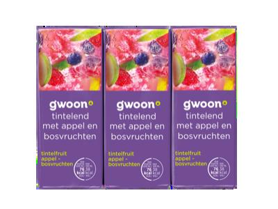 g'woon pakjes tintelfruit appel - bosvruchten 6 x 200ml