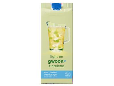 g'woon tintelfruit witte druif - citroen light 1,5 liter