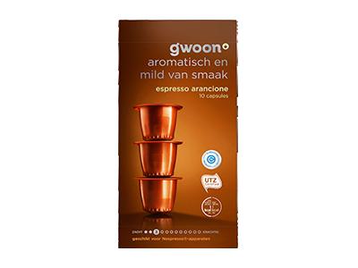 g'woon espresso capsules arancione 10 stuks