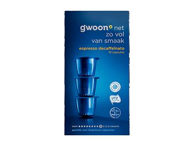 g'woon espresso capsules decaffeinato 10 stuks
