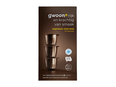 g'woon espresso capsules marrone 10 stuks