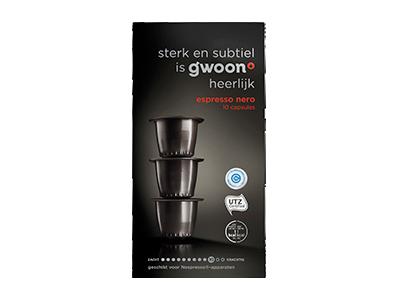 g'woon espresso capsules nero 10 stuks