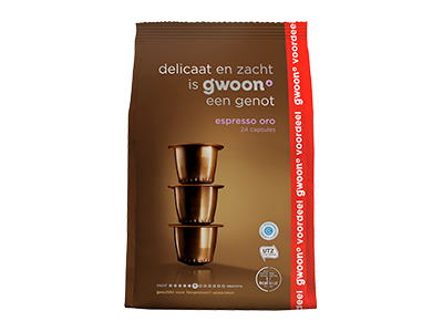 g'woon espresso capsules oro 24 stuks