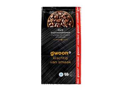 g'woon espresso bonen dark 1000 gram