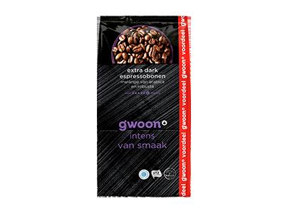 g'woon espresso bonen extra dark 1000 gram