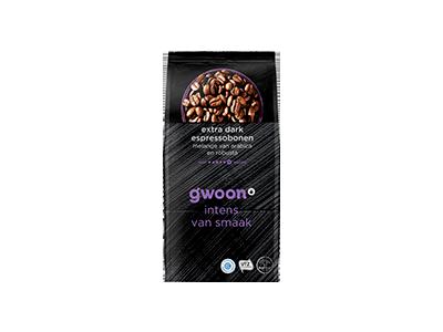 g'woon espresso bonen extra dark 500 gram