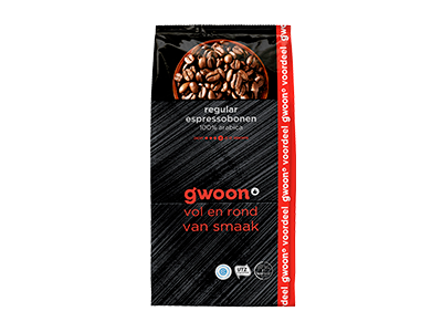 g'woon espresso bonen Regular 1000 gram