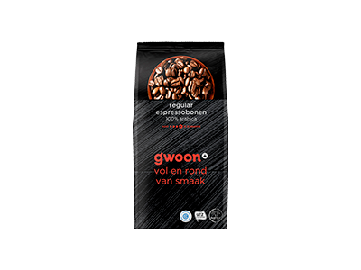 g'woon espresso bonen regular 500 gram