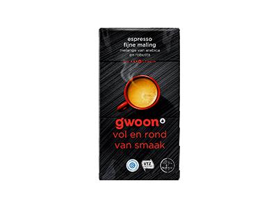 g'woon espresso gemalen 250 gram