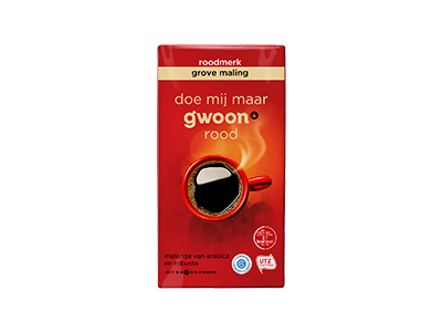 g'woon filterkoffie roodmerk grof 250 gram