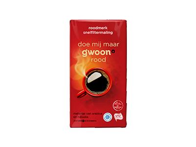 g'woon filterkoffie roodmerk 250 gram