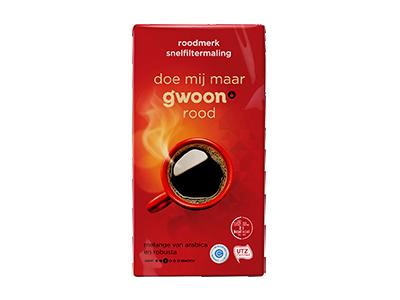 g'woon filterkoffie roodmerk 500 gram