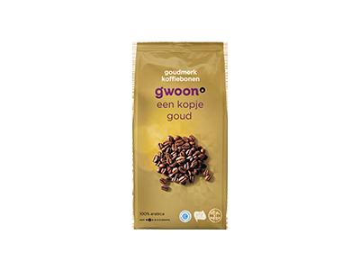 g'woon koffiebonen goudmerk 500 gram