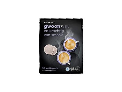g'woon pads espresso 36 stuks