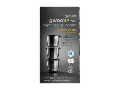 g'woon lungo capsules sumatra 10 stuks
