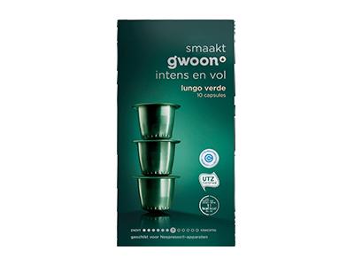 g'woon lungo capsules verde 10 stuks
