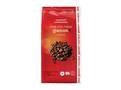 g'woon koffiebonen roodmerk 1000 gram