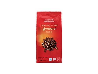 g'woon koffiebonen roodmerk 500 gram