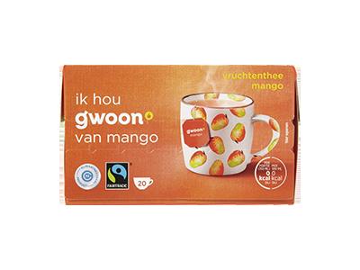 g'woon vruchtenthee mango 20 x 2 gram