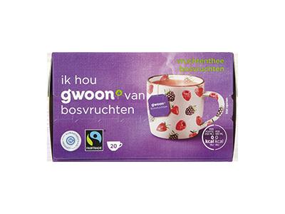 g'woon vruchtenthee bosvruchten 20 x 2 gram